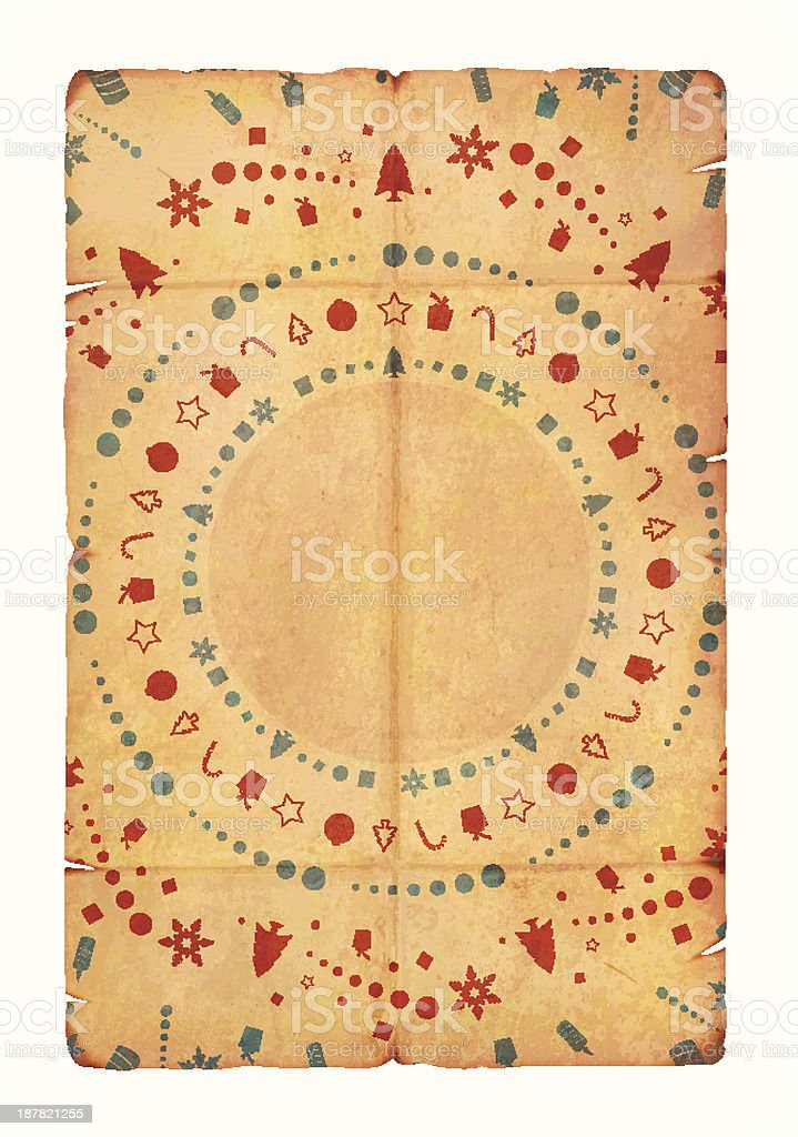 Grunge Vector Seasonal Greeting paper royalty-free stock vector art