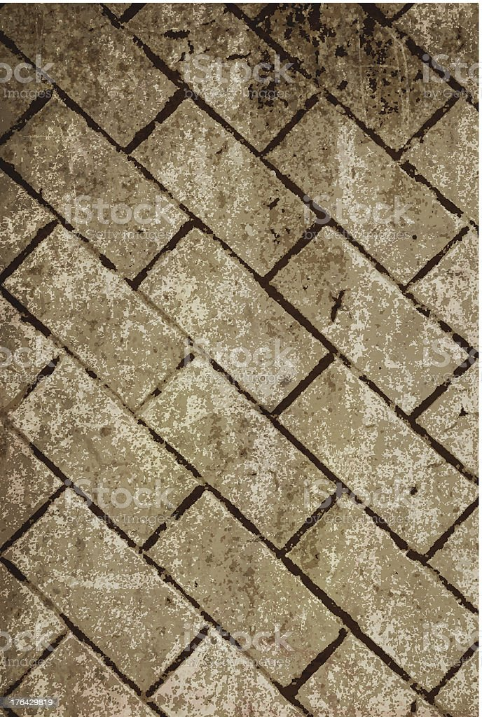 Grunge Vector Wall Background royalty-free stock vector art