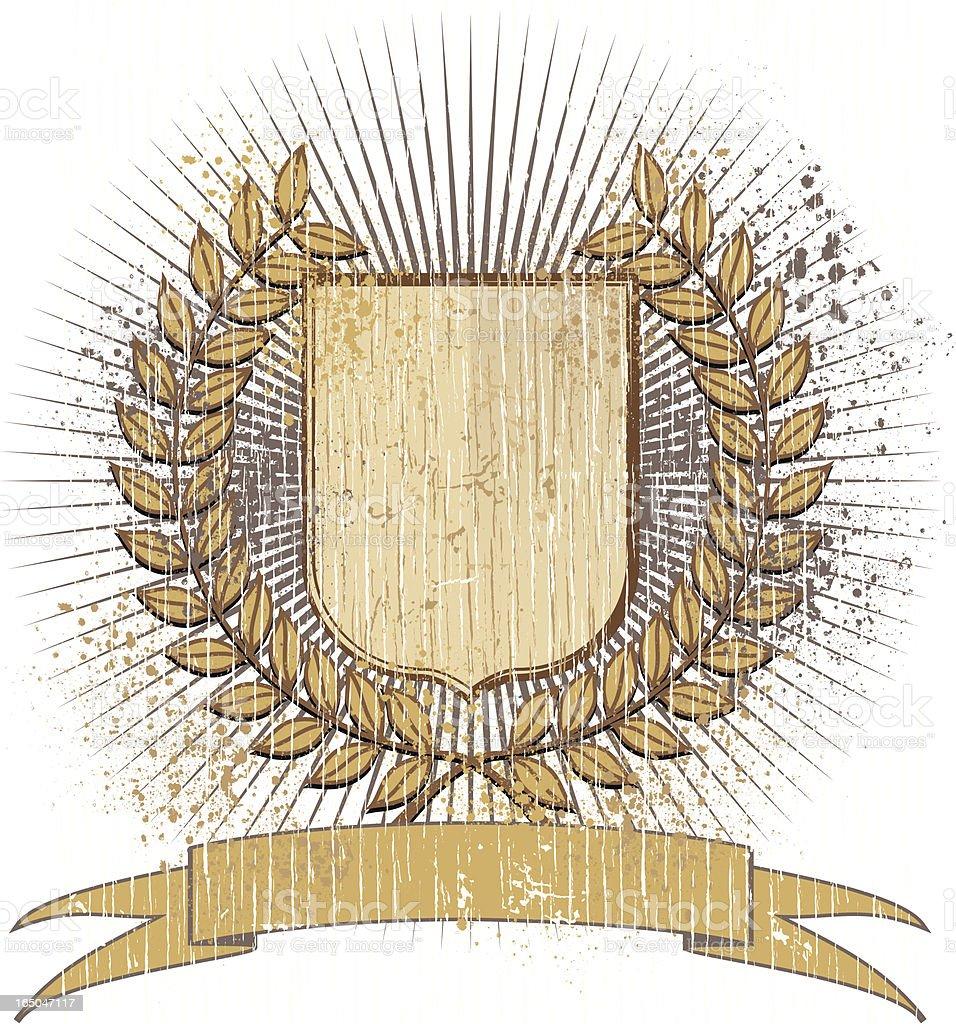 Grunge victory shield royalty-free stock vector art
