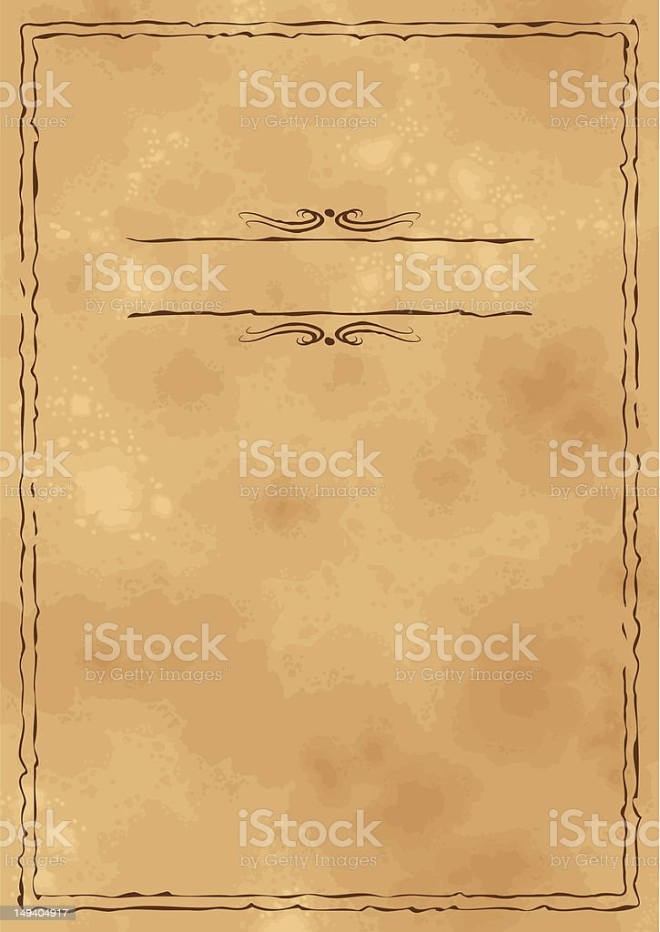 Grunge vintage old craft paper background royalty-free stock vector art