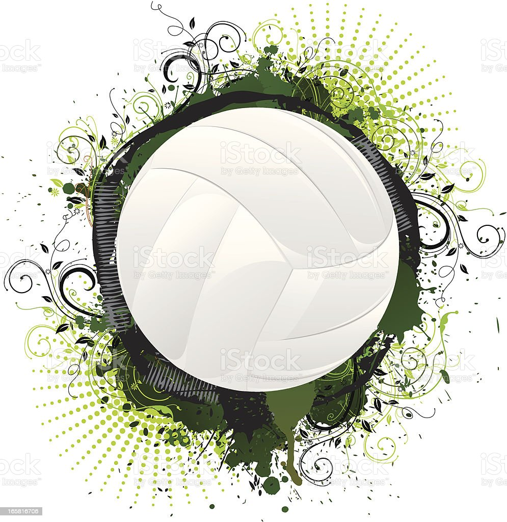 Grunge Volley Ball royalty-free stock vector art
