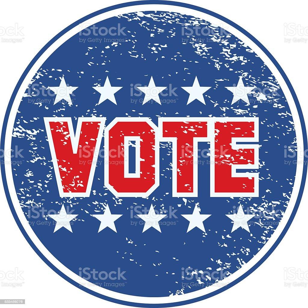 Grunge Vote Icon vector art illustration