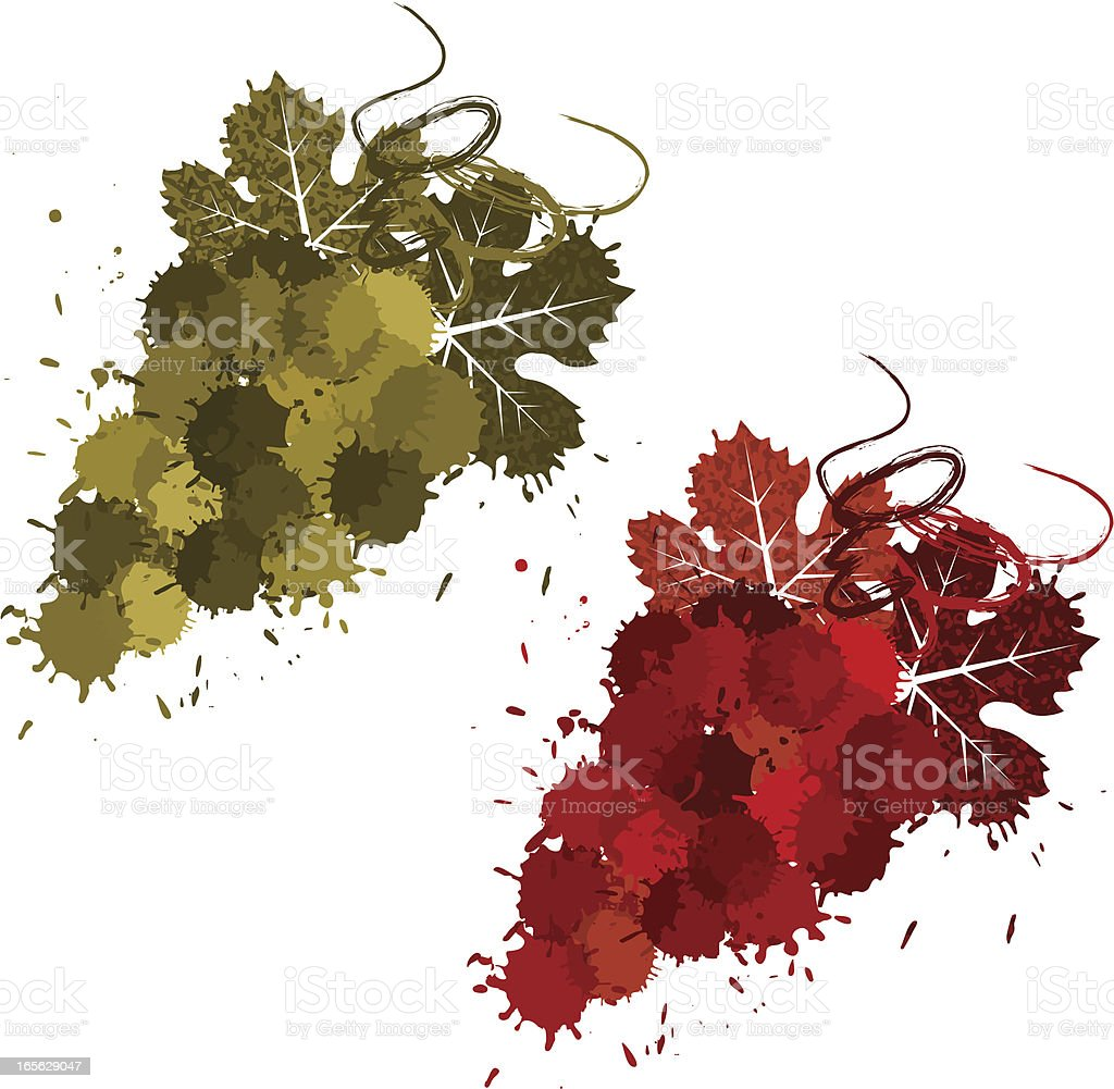 Grunge wine grapes royalty-free stock vector art