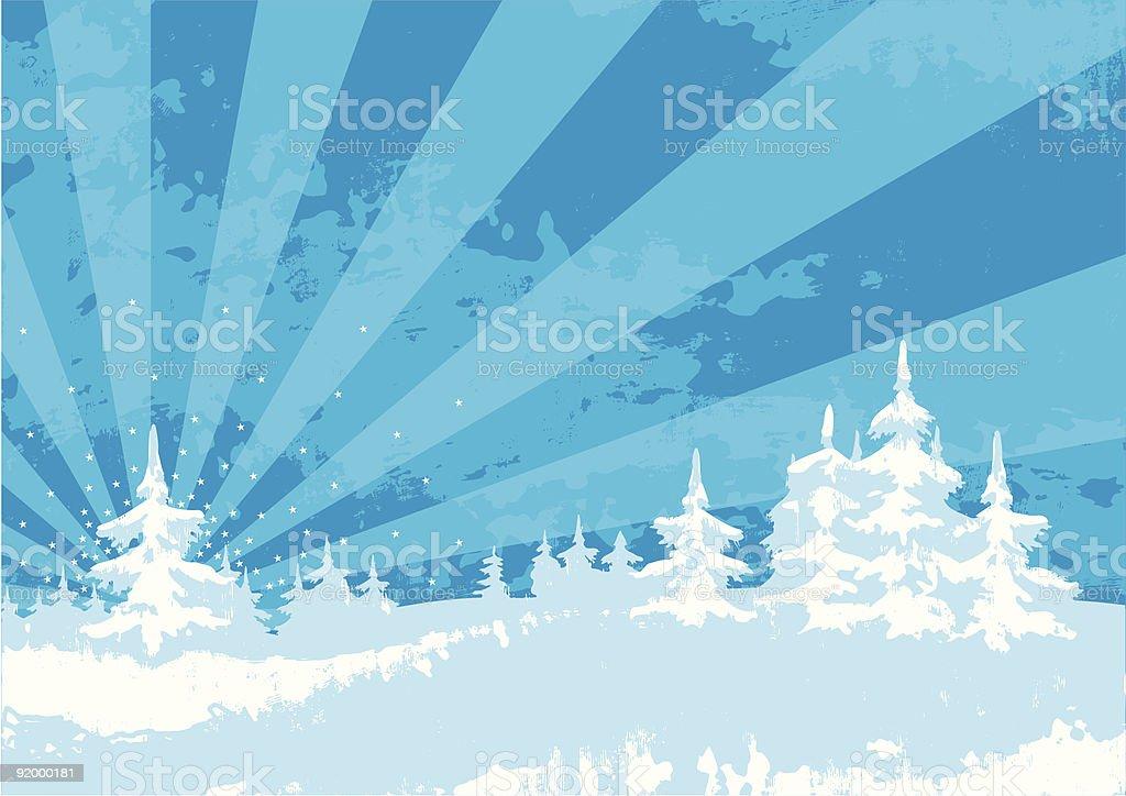 grunge winter landscape royalty-free stock vector art
