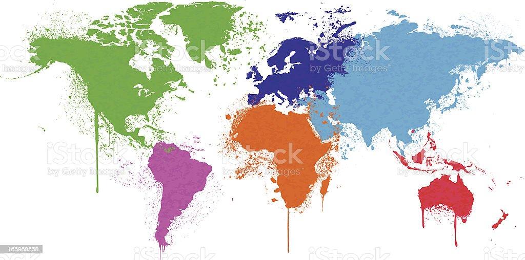 Grunge World Map royalty-free stock vector art