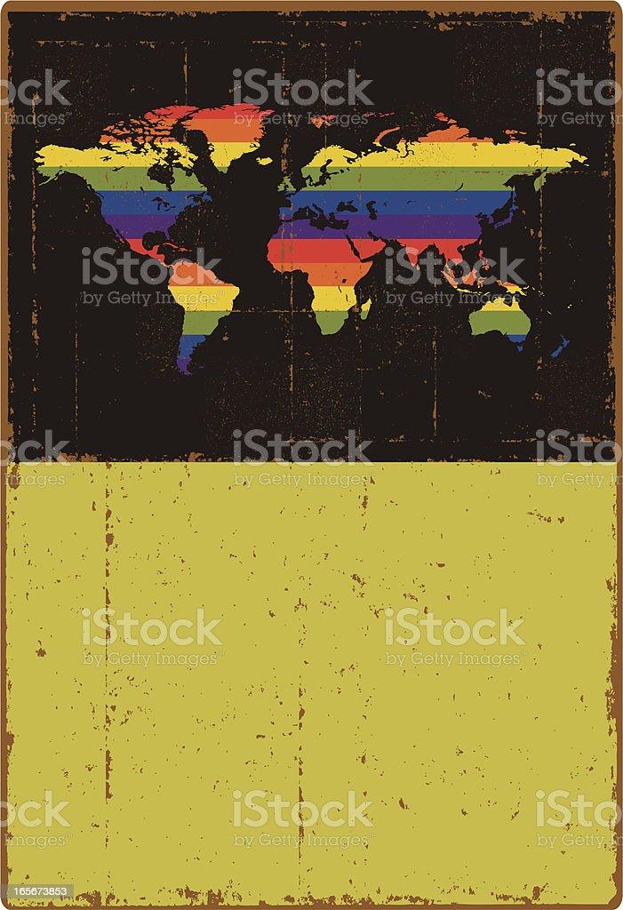 Grunge World Sign royalty-free stock vector art