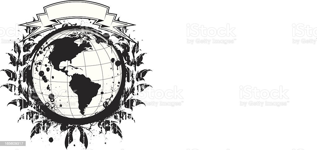 grunge world royalty-free stock vector art
