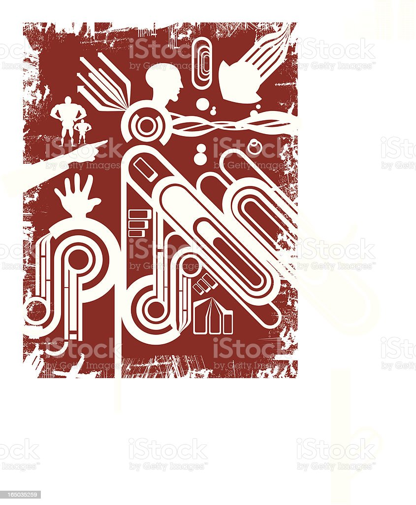 Grunged Design Elements royalty-free stock vector art