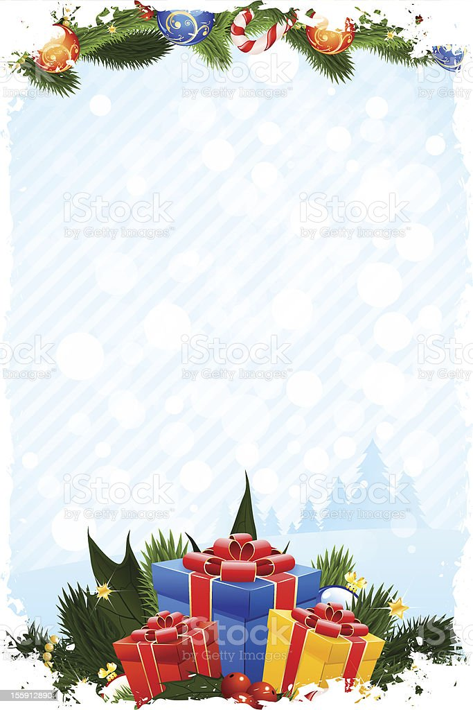 Grungy Christmas Card royalty-free stock vector art