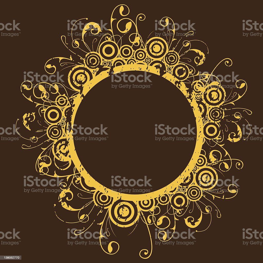grungy circle frame (ALL VECTOR) royalty-free stock vector art