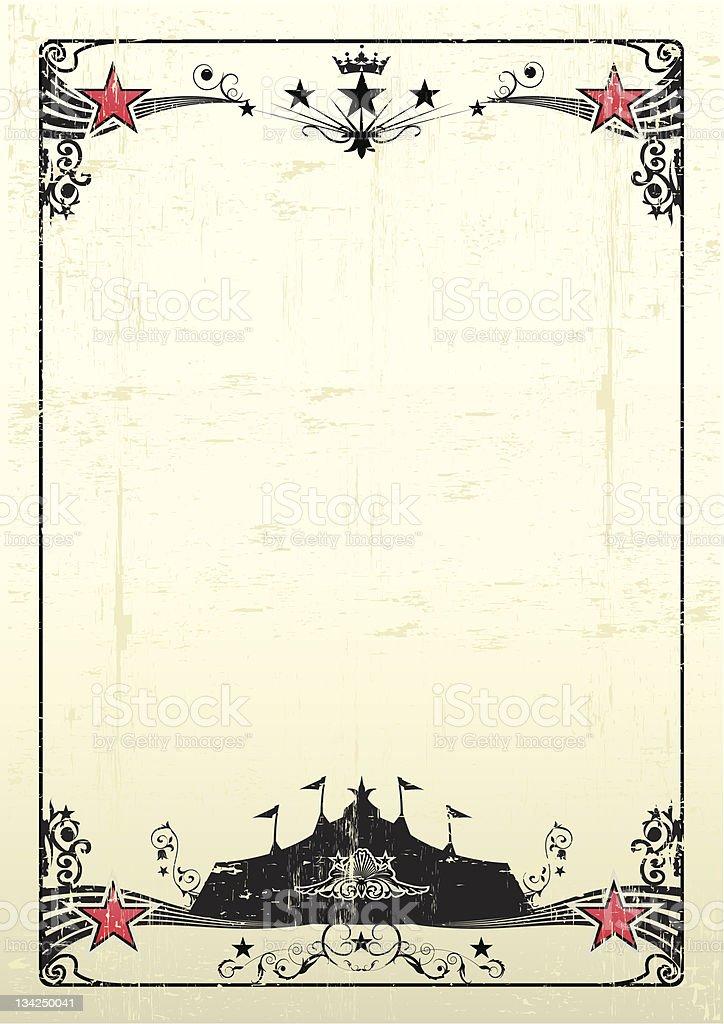 grungy circus poster stock photo