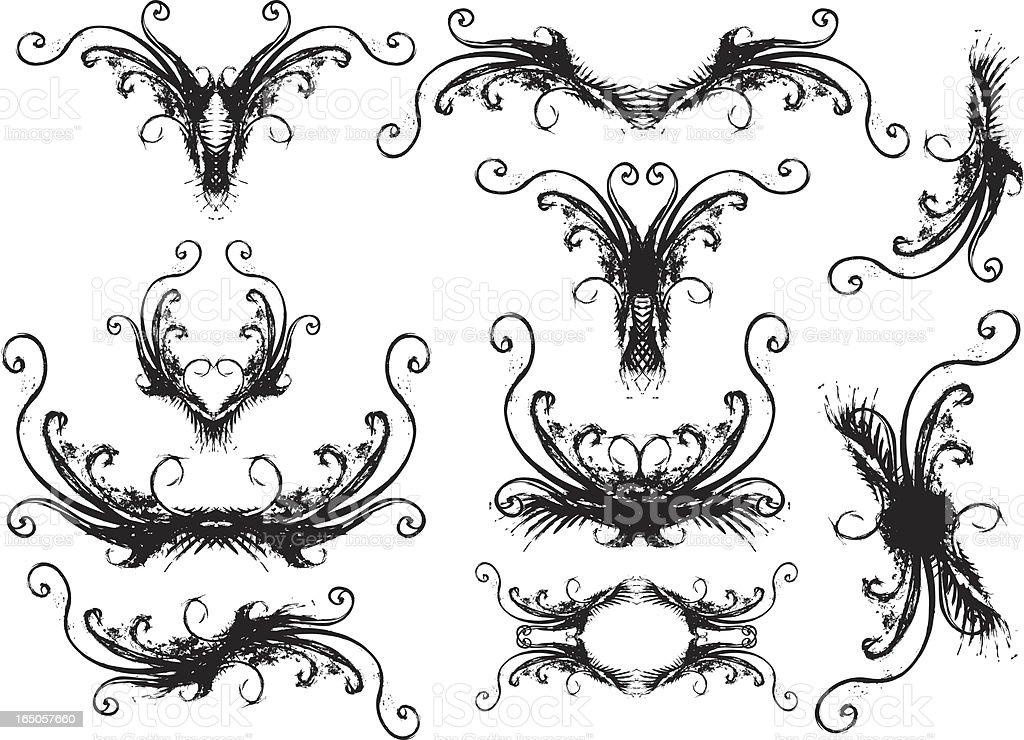 Grunge-curls Lizenzfreies vektor illustration