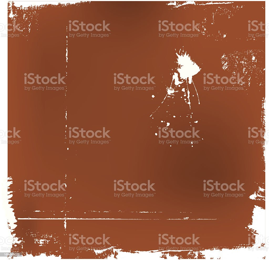 Grungy frame BROWN royalty-free stock vector art