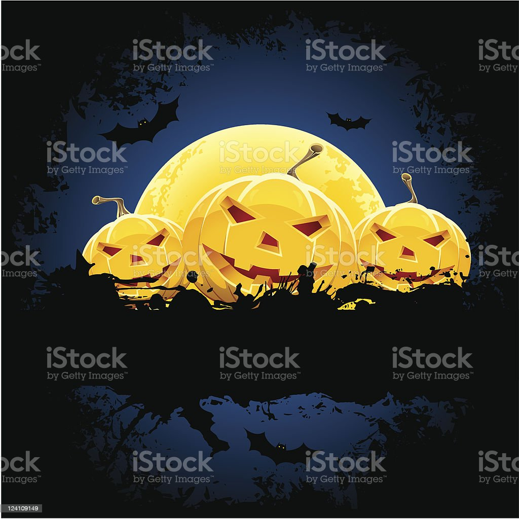 Grungy Halloween background royalty-free stock vector art