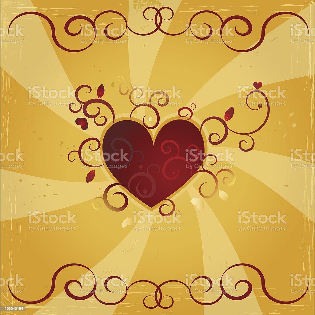 Grungy heart royalty-free stock vector art