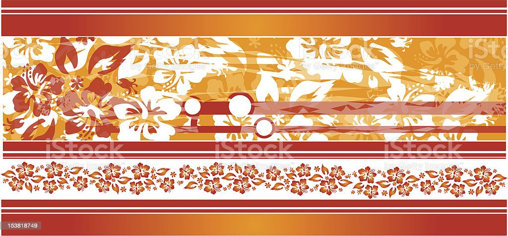 Grungy hibiscus topper royalty-free stock vector art
