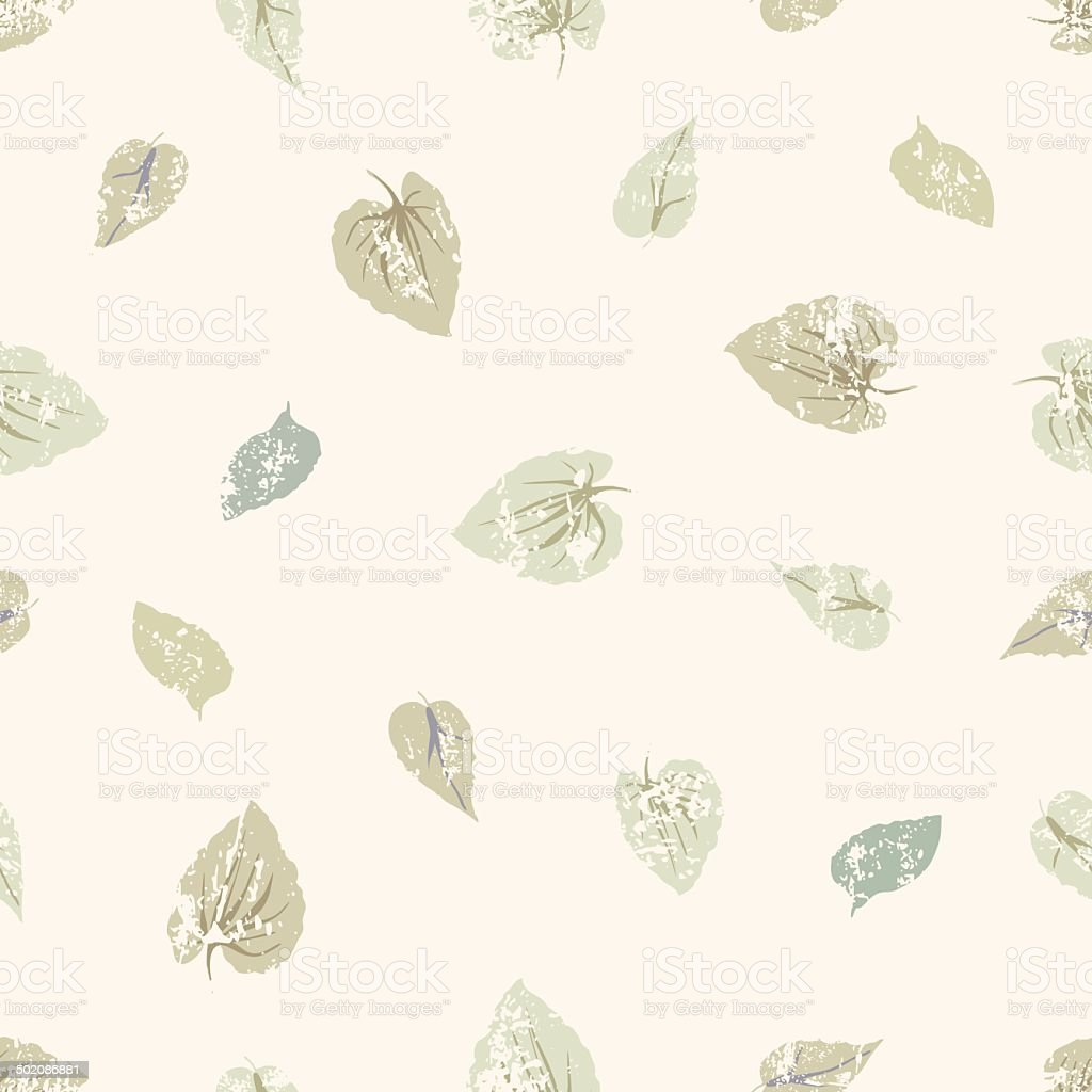 grungy leaves seamless pattern royalty-free stock vector art