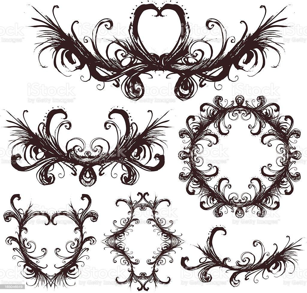 Grunge lieben Lizenzfreies vektor illustration