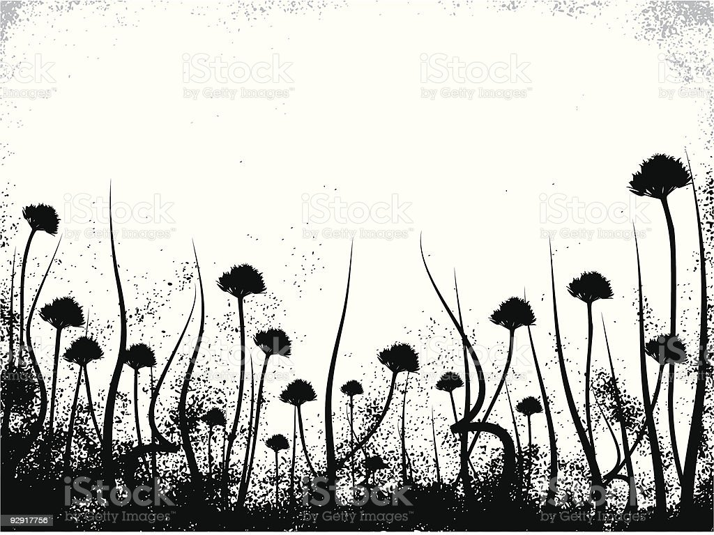 Grungy organic frame (vector & jpeg) vector art illustration