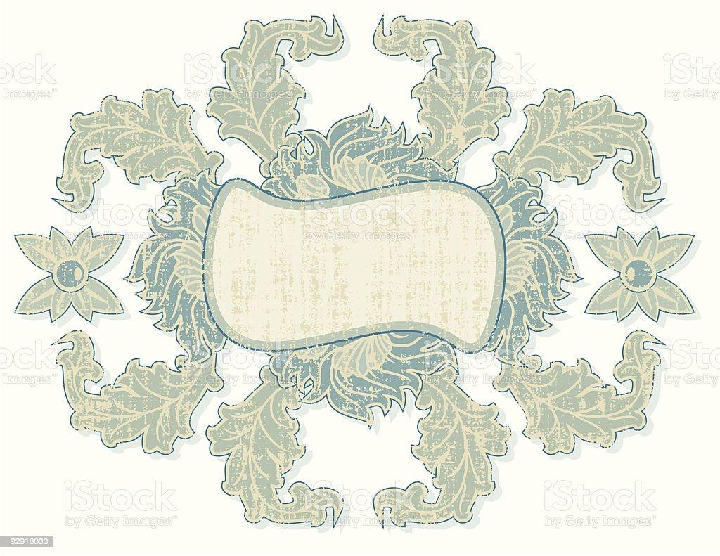 Grungy Shabby Chic Frame (vector & jpeg) royalty-free stock vector art