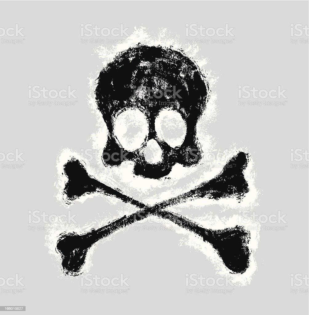 Grungy Skull and Bones royalty-free stock vector art
