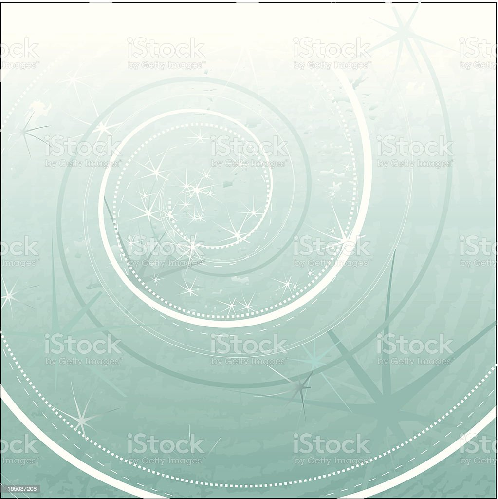 Grungy spiral abstract background royalty-free stock vector art