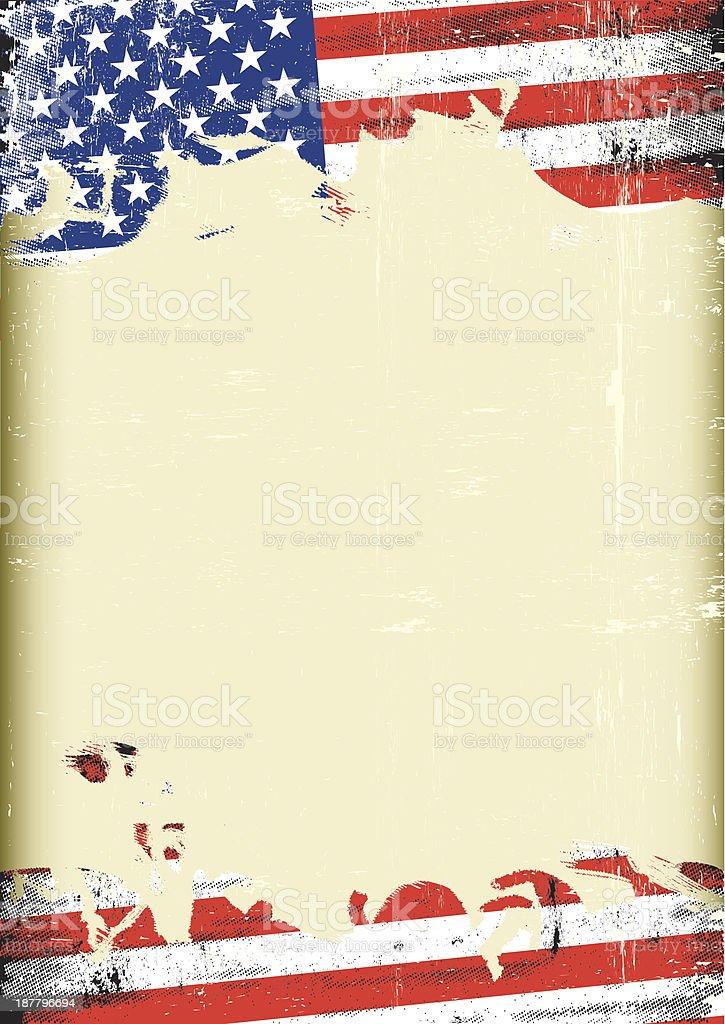 Grungy US flag vector art illustration