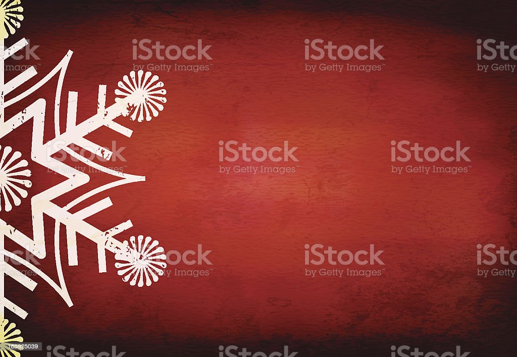 Grungy Vector Christmas Background royalty-free stock vector art