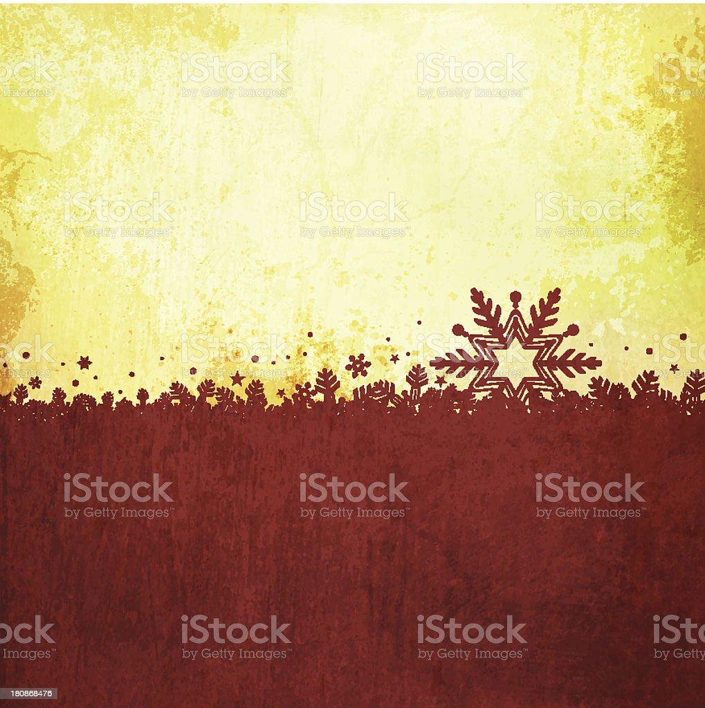 Grungy Vector Christmas Design royalty-free stock vector art