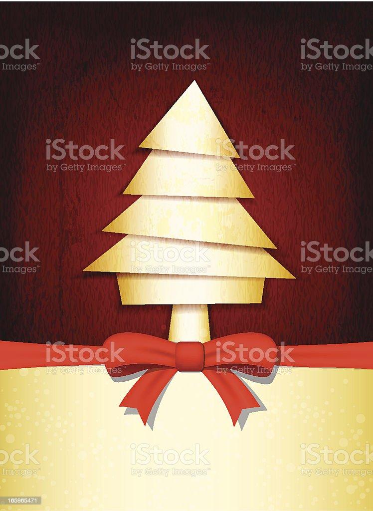 Grungy Vector Christmas Greetings royalty-free stock vector art
