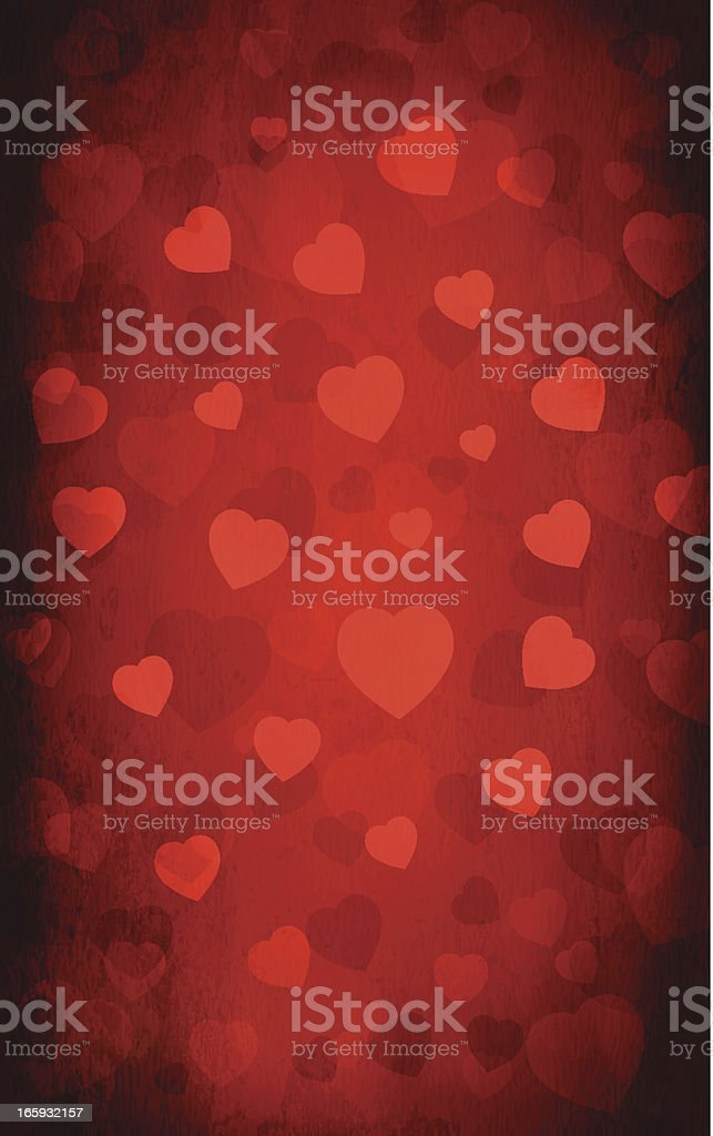 Grungy vector hearts background royalty-free stock vector art