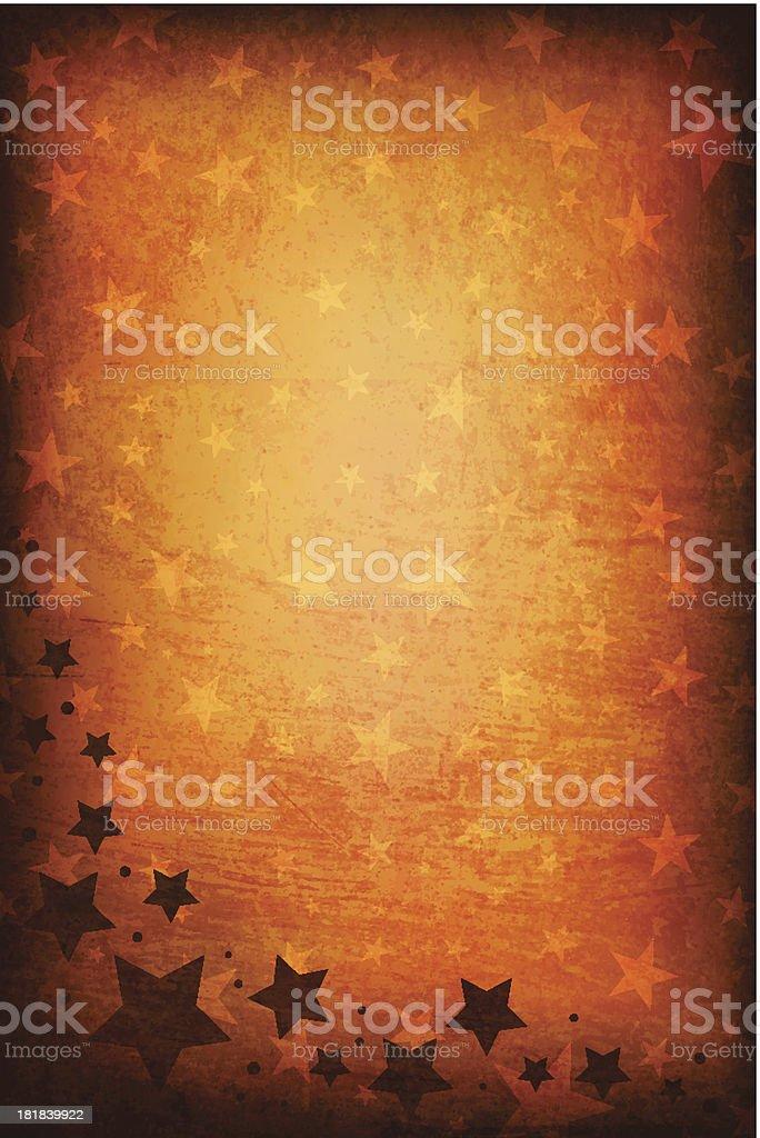 Grungy Vector Starry Background vector art illustration