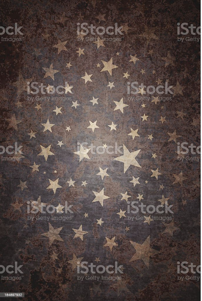 Grungy Vector Starry Background vector art illustration
