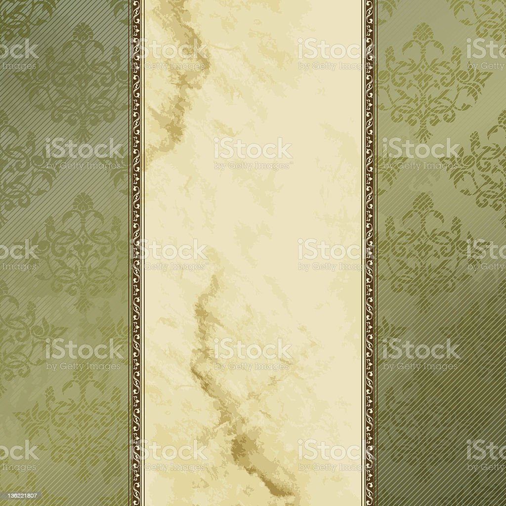 Grungy Victorian vintage background royalty-free stock vector art
