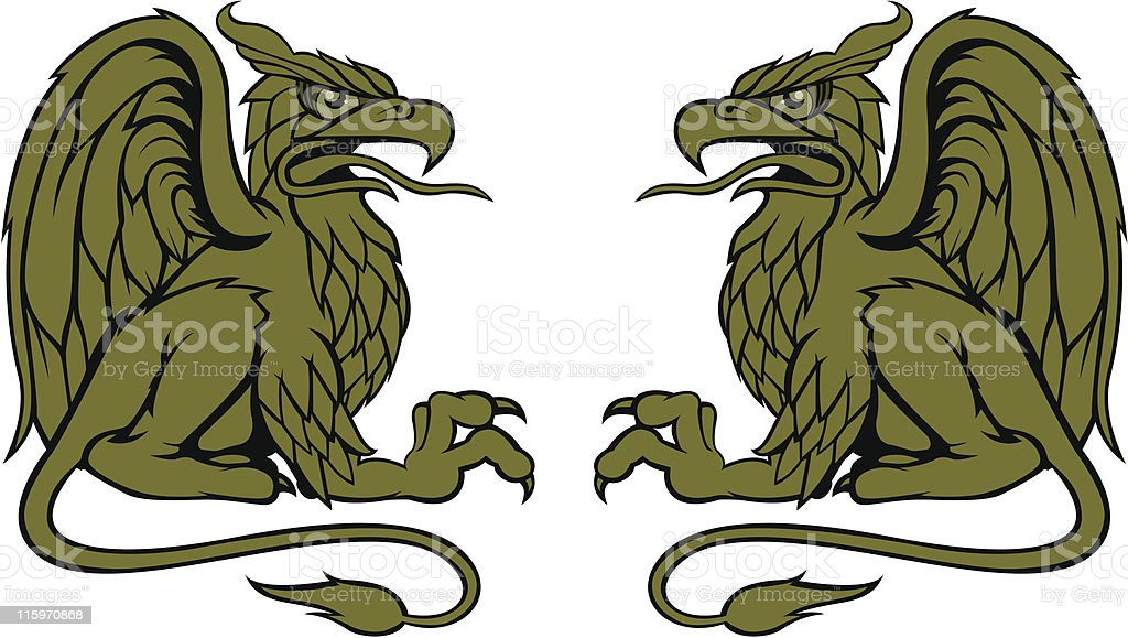 Gryphon Bros. vector art illustration