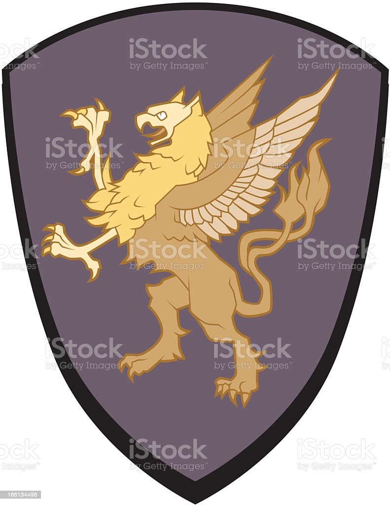 Gryphon Emblem vector art illustration