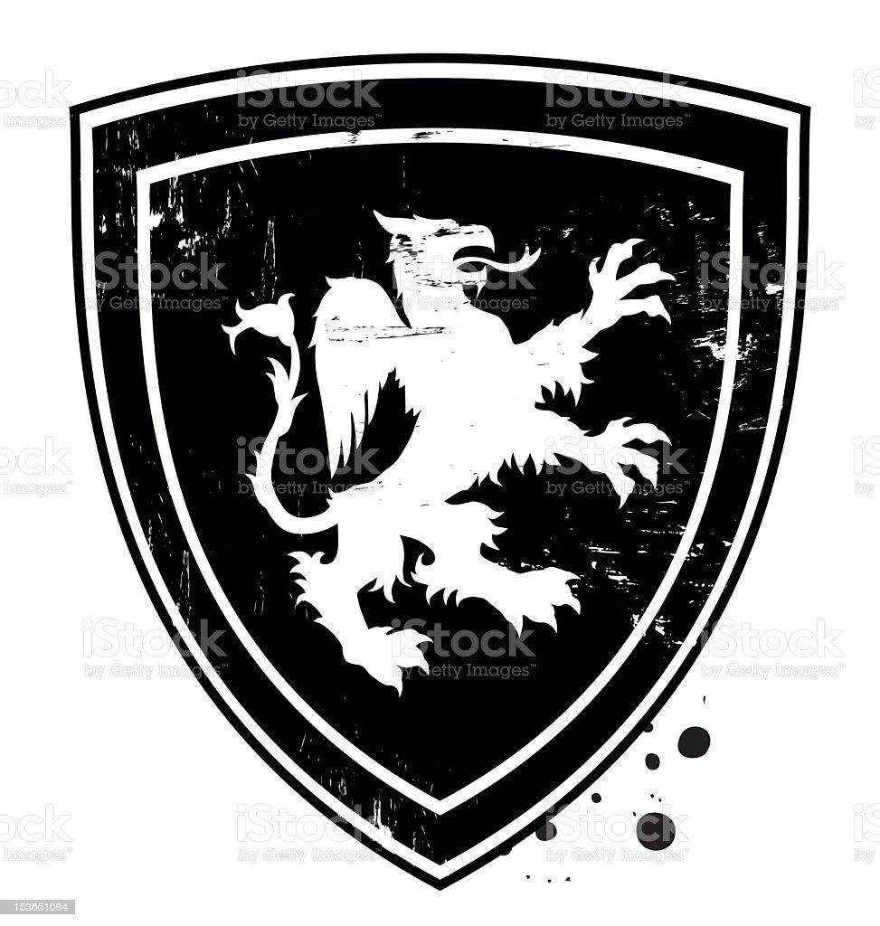 gryphon shield royalty-free stock vector art