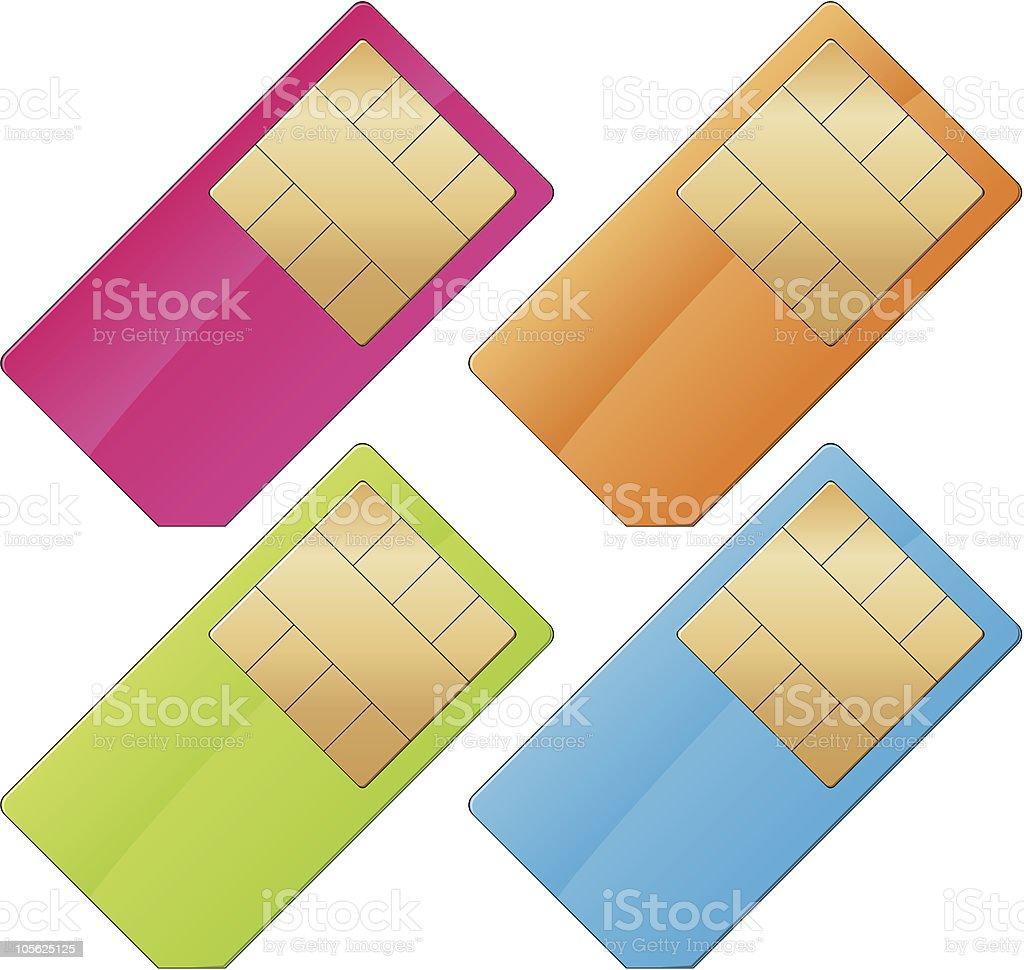gsm sim card royalty-free stock vector art