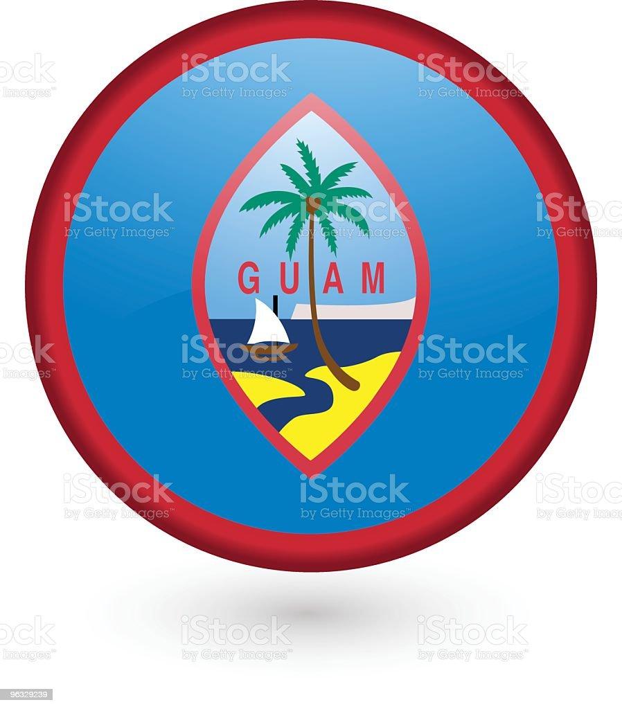 Guam flag button royalty-free stock vector art