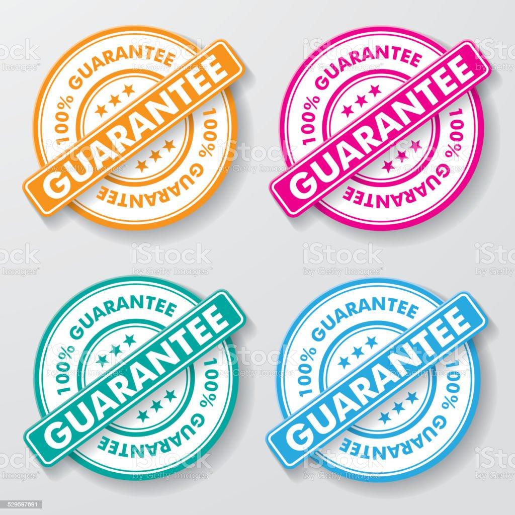 Guarantee Paper Labels vector art illustration