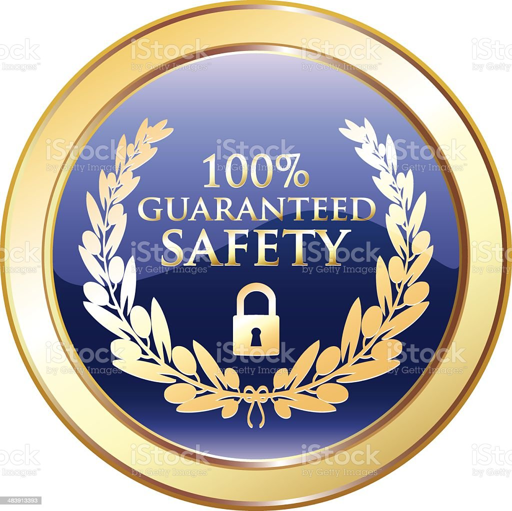 Guaranteed Safety Golden Award royalty-free stock vector art