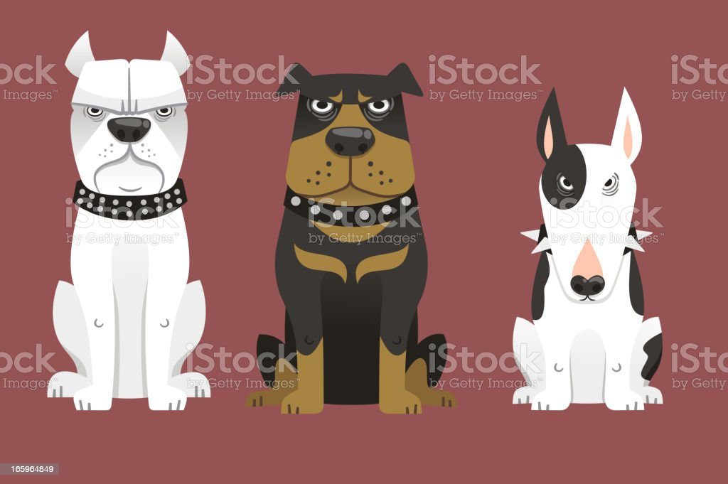 Guard Dog Set royalty-free stock vector art