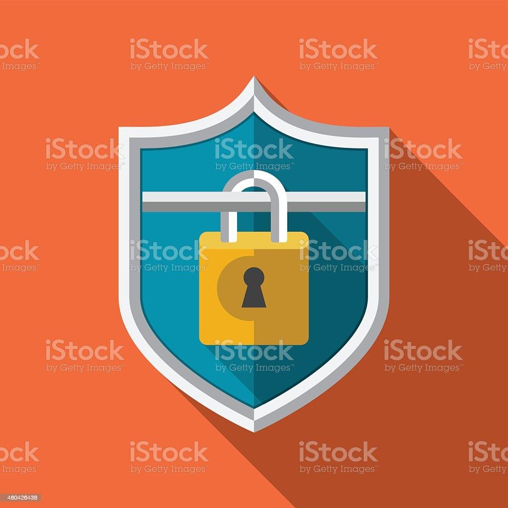 Guard Shield Vector Flat Icon vector art illustration
