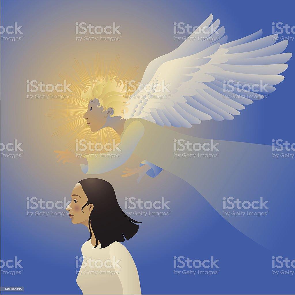 Guardian Angel royalty-free stock vector art