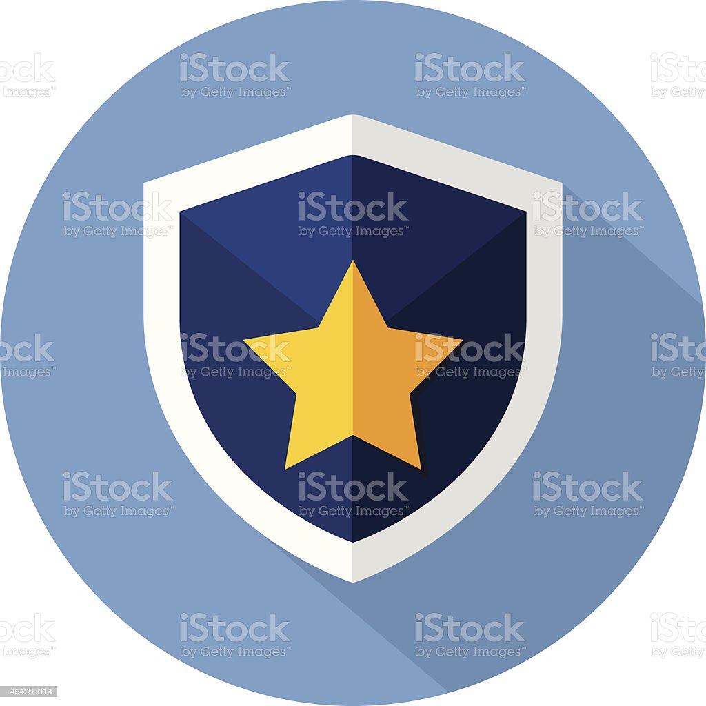 Guardian Shield- Flat icon vector art illustration
