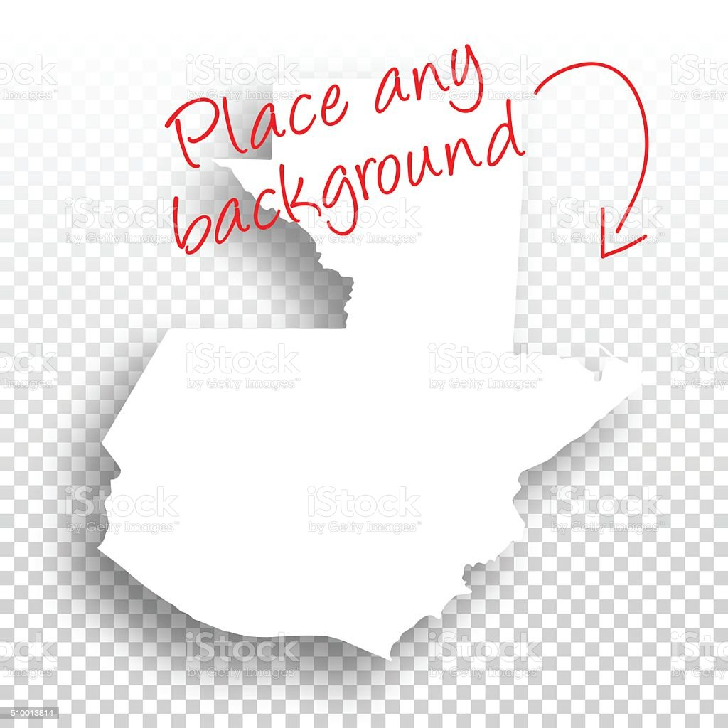 Guatemala Map for design - Blank Background vector art illustration