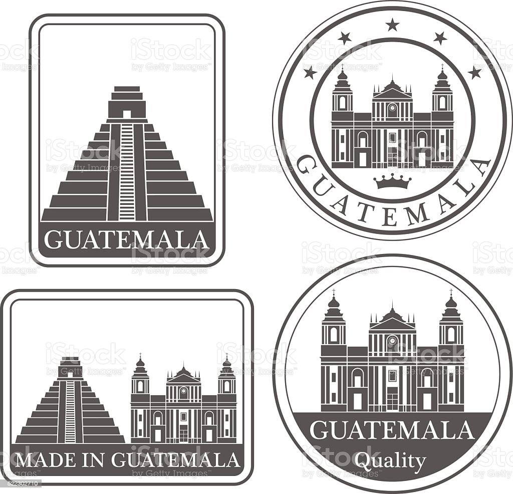 Guatemala vector art illustration