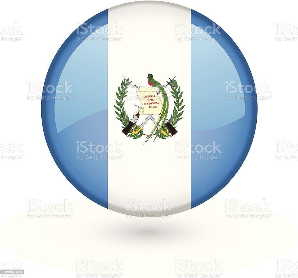 Guatemalan flag vector button vector art illustration