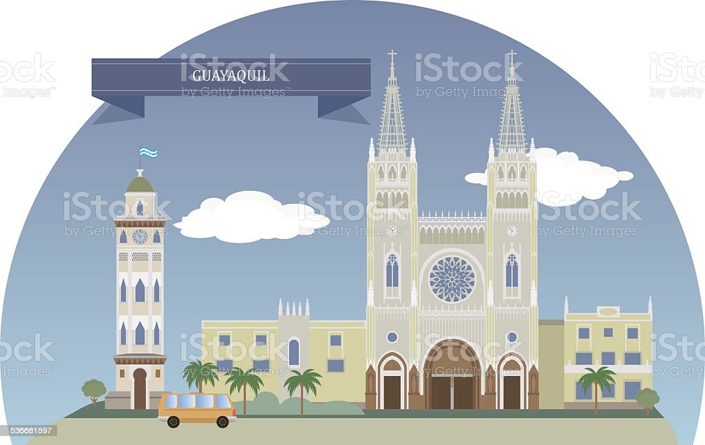 Guayaquil, Ecuador vector art illustration