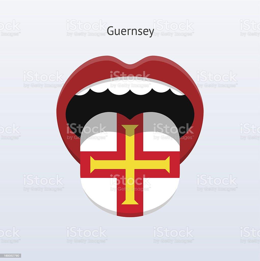 Guernsey language. Abstract human tongue. royalty-free stock vector art